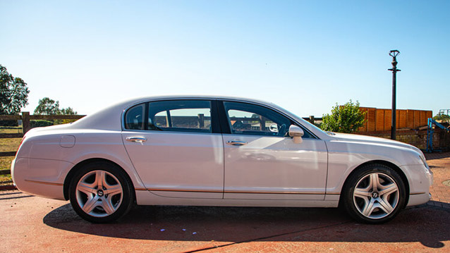 Bentley Continental Flying Spur wedding car for hire in Hemel Hempstead, Hertfordshire