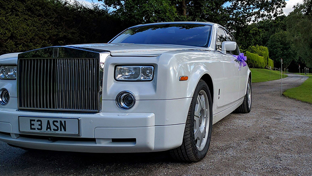 Rolls-Royce Phantom wedding car for hire in Manchester