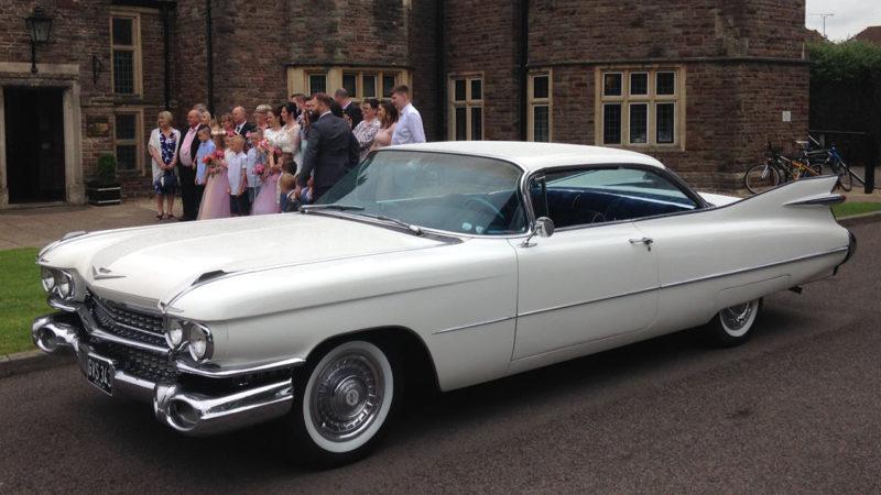 Cadillac Coupe De Ville wedding car for hire in Bristol
