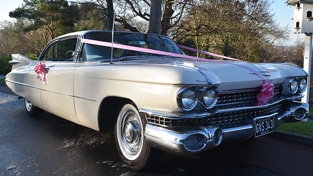 Cadillac Coupe De Ville wedding car for hire in Bristol