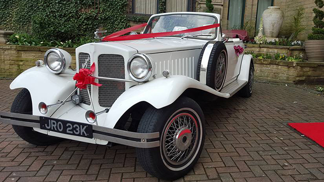 Vintage White Beauford Convertible Wedding Car Hire ...