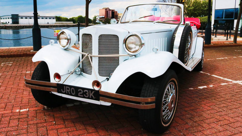 Beauford Convertible wedding car for hire in Manchester