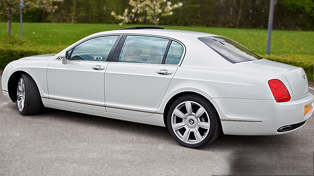 Bentley Continental Flying Spur wedding car for hire in Manchester