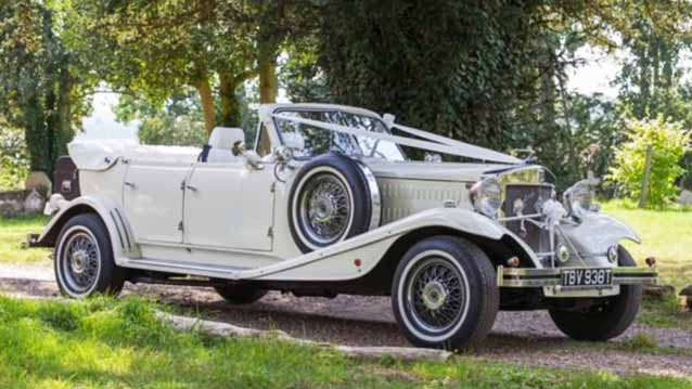 Beauford Convertible wedding car for hire in London