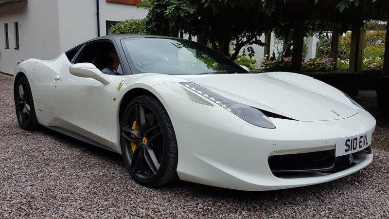 Ferrari 458 Italia wedding car for hire in Newbury, Berkshire