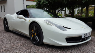 Ferrari 458 Italia wedding car for hire in Newbury, Berkshire