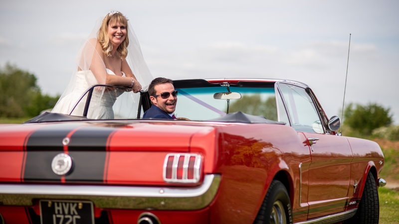 Ford Mustang Convertible wedding car for hire in Denham, Buckinghamshire