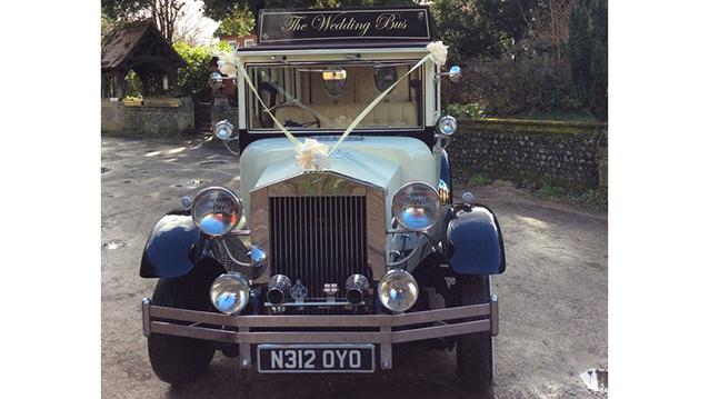 Imperial Regent Bus wedding car for hire in Worcester Park, Surrey