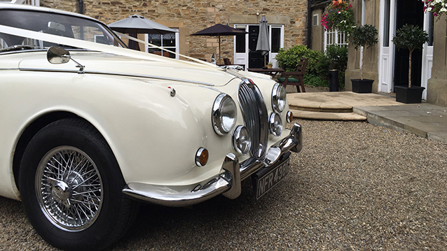 Jaguar MK II wedding car for hire in Lanchester, Durham
