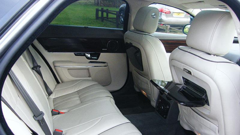 Jaguar XJ LWB wedding car for hire in Witney, Oxfordshire