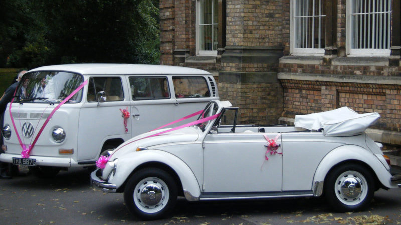 Volkswagen Beetle Karmann Convertible wedding car for hire in Burgess Hill, West Sussex