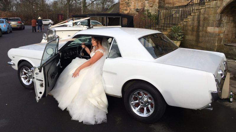 Ford Mustang wedding car for hire in Lanchester, Durham
