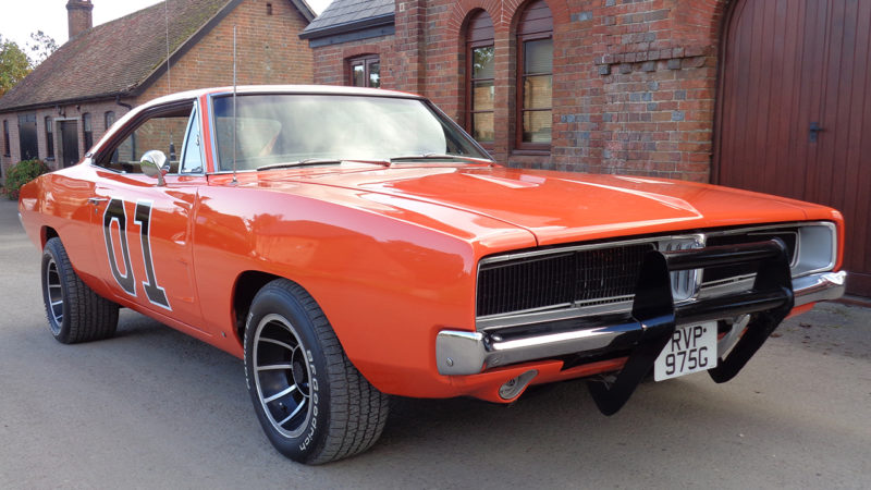 "Dodge Charger ""General Lee"" wedding car for hire in Bournemouth, Dorset"