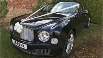 Bentley Mulsanne wedding car for hire in Ferndown, Dorset