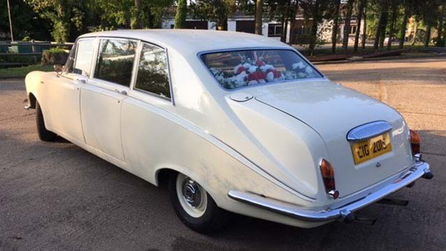 Daimler DS420 Limousine wedding car for hire in Bury St Edmunds, Suffolk