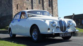 Jaguar MK II wedding car for hire in Lanchester, Durham