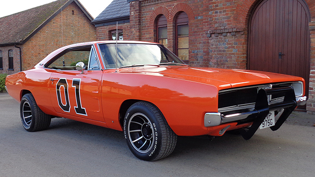 """Dodge Charger """"General Lee"""" wedding car for hire in Bournemouth, Dorset"""