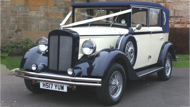 Regent Landaulette wedding car for hire in Lanchester, Durham