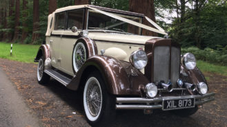 Regent Landaulette wedding car for hire in Lanchester, Durham