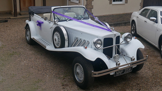 Beauford Convertible wedding car for hire in Newcastle, Tyne and Wear