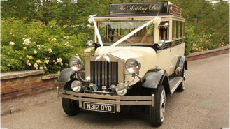 Imperial Regent Bus wedding car for hire in Worcester Park, Surrey