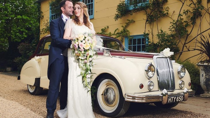 Armstrong-Siddeley Sapphire 346 wedding car for hire in Royston, Hertfordshire