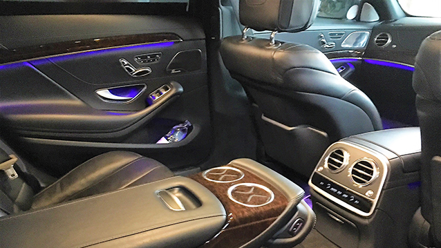 Mercedes 'S' Class LWB wedding car for hire in Warrington, Cheshire