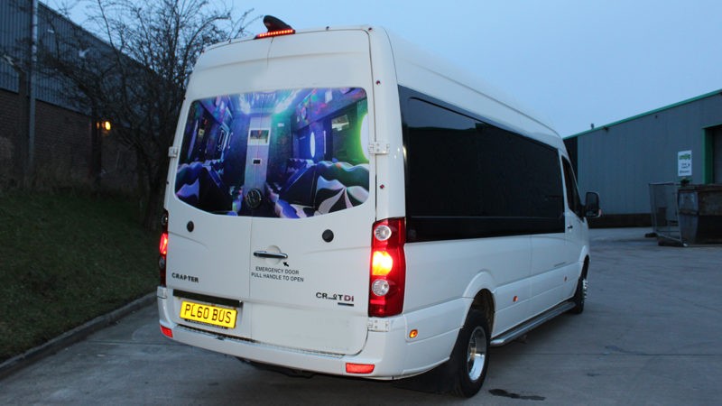 Volkswagen Party Bus wedding car for hire in Bradford, West Yorkshire