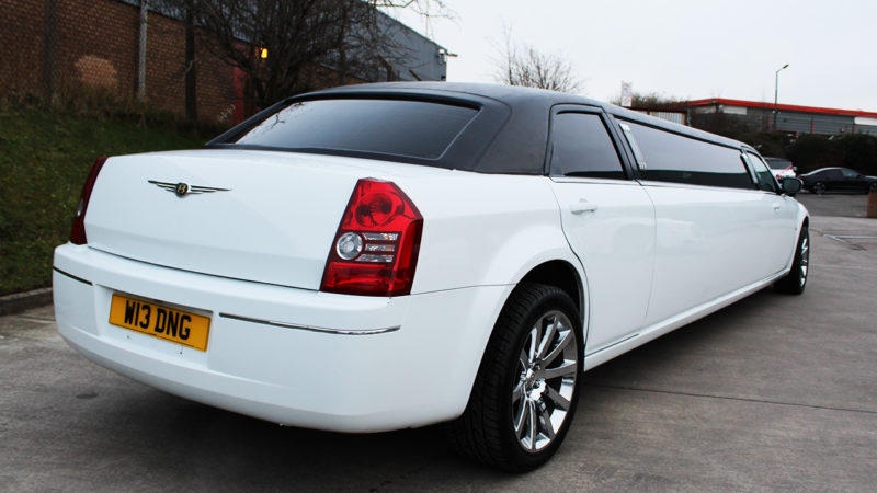 Chrysler 300c Stretched Limousine wedding car for hire in Bradford, West Yorkshire