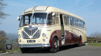 Bedford SB Coach wedding car for hire in Stalbridge, Dorset