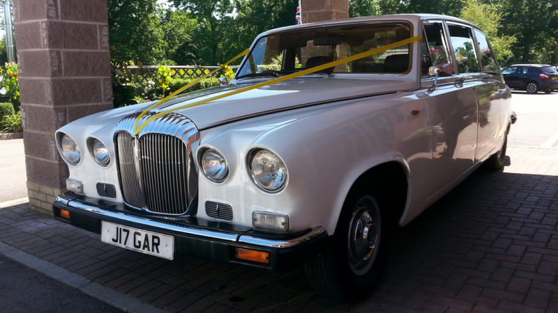 Daimler DS420 Limousine wedding car for hire in Newport, South Wales