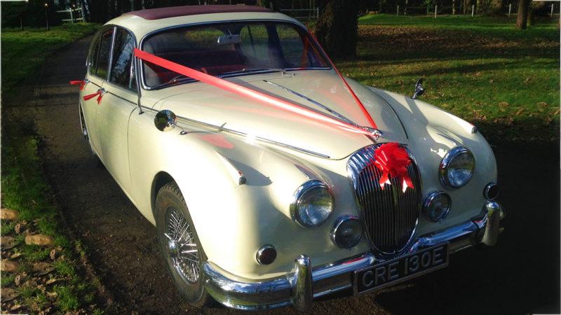 Daimler 250 V8 wedding car for hire in Bournemouth, Dorset