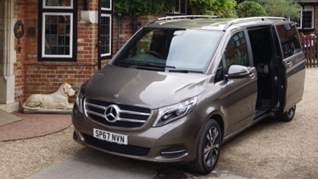 Mercedes V-Class wedding car for hire in Lyndhurst, Hampshire