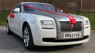 Rolls-Royce Ghost wedding car for hire in Bradford, West Yorkshire