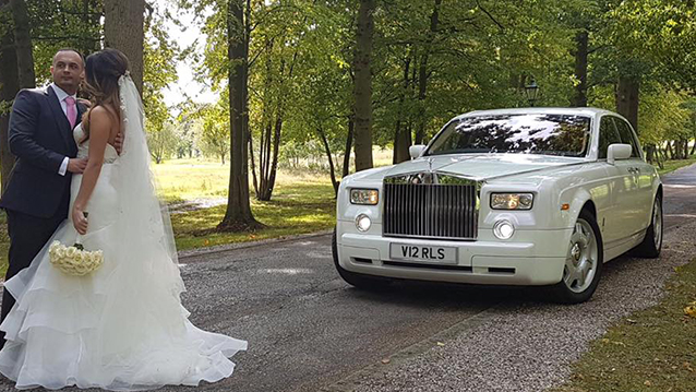 Rolls-Royce Phantom wedding car for hire in Ware, Hertfordshire