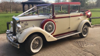 Regent Landaulette wedding car for hire in Warrington, Cheshire
