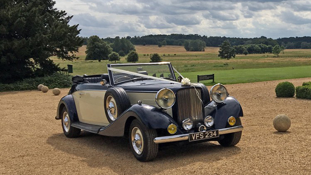 Royale Drophead Convertible wedding car for hire in Leicester, Leicestershire