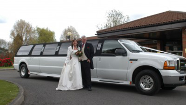 Ford Excursion Stretched Limousine wedding car for hire in Newport, South Wales