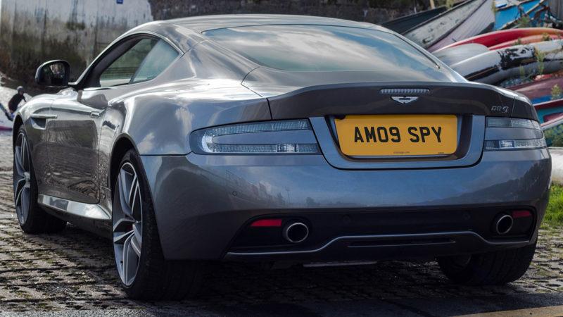 Aston Martin DB9 wedding car for hire in Bideford, Devon