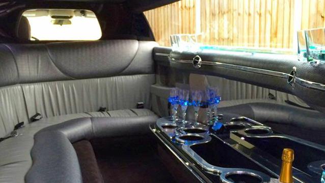 Chrysler 300c Stretched Limousine wedding car for hire in Milton Keynes, Buckinghamshire