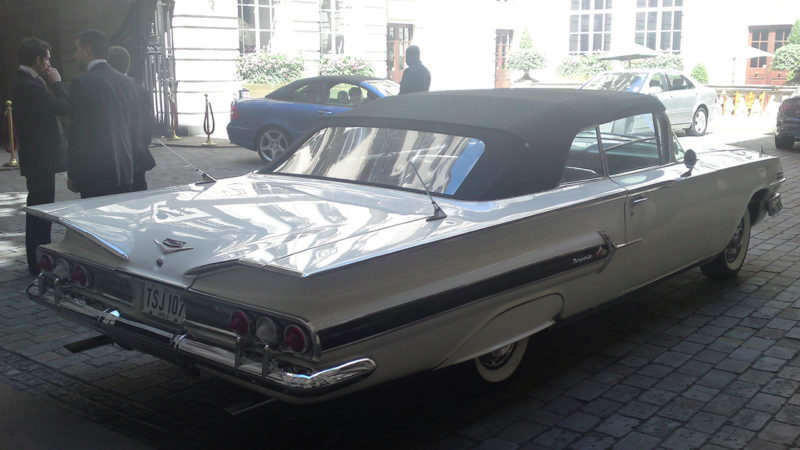 Chevrolet Impala Convertible wedding car for hire in London