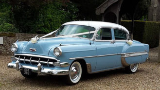 Chevrolet Bel Air Sedan wedding car for hire in Ipswich, Suffolk