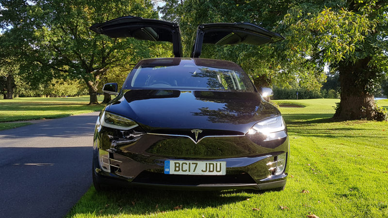 Tesla 'X' P100D wedding car for hire in Cardiff, South Wales
