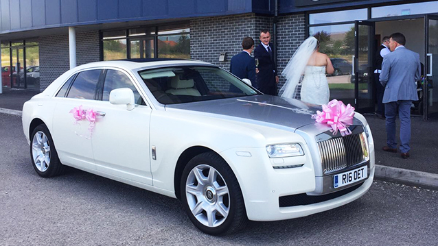 White Rolls Royce Ghost Wedding Car In Bradford Amp Leeds