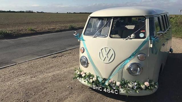 Volkswagen Split Screen Camper Van wedding car for hire in Welling, Kent