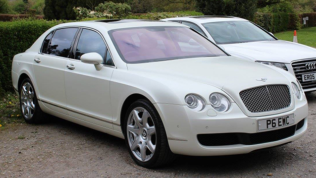 Bentley Continental Flying Spur wedding car for hire in Sevenoaks, Kent