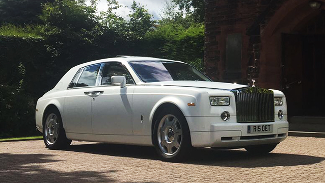 Rolls-Royce Phantom wedding car for hire in Bradford, West Yorkshire