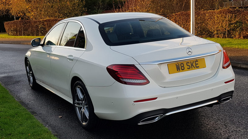 white mercedes  class wedding car hire stockport manchester
