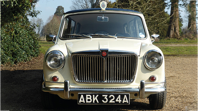 Austin Mini Stretched Limousine wedding car for hire in Battle, East Sussex