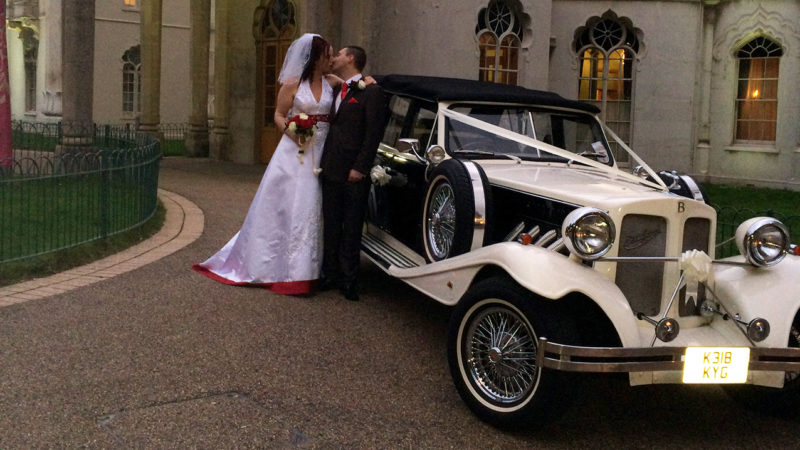 Beauford 4 Door Convertible LWB wedding car for hire in Eastbourne, East Sussex